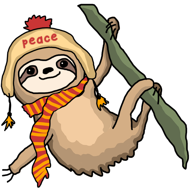 Christmas Holiday Sloths messages sticker-11