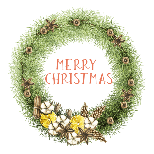 Christmas Watercolor Stickers messages sticker-2