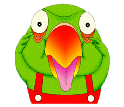 Funny Parrot messages sticker-0