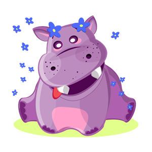 Hippo Cute Sticker messages sticker-1
