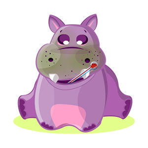 Hippo Cute Sticker messages sticker-8