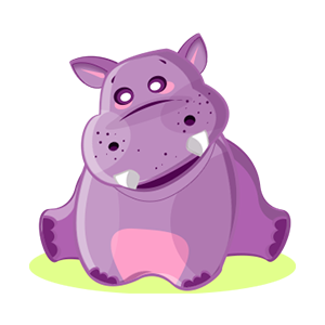 Hippo Cute Sticker messages sticker-0