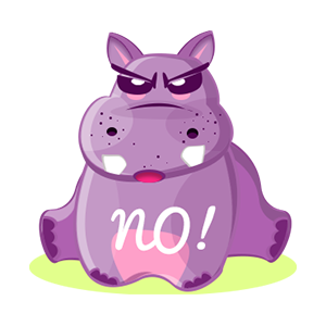 Hippo Cute Sticker messages sticker-7