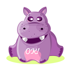 Hippo Cute Sticker messages sticker-5