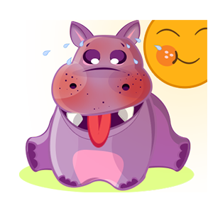 Hippo Cute Sticker messages sticker-6