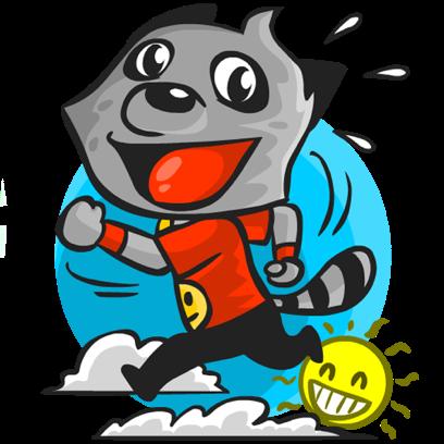 Rubi the Raccoon messages sticker-3