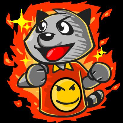 Rubi the Raccoon messages sticker-11