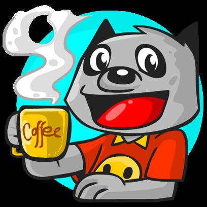 Rubi the Raccoon messages sticker-0
