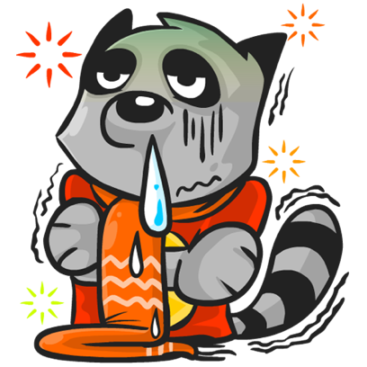 Rubi the Raccoon messages sticker-7