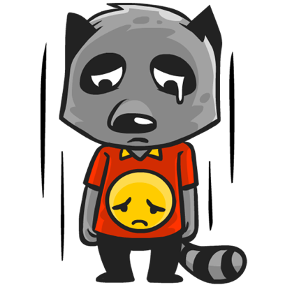 Rubi the Raccoon messages sticker-4