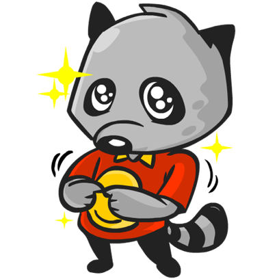 Rubi the Raccoon messages sticker-2