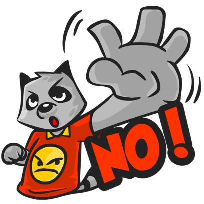Rubi the Raccoon messages sticker-1