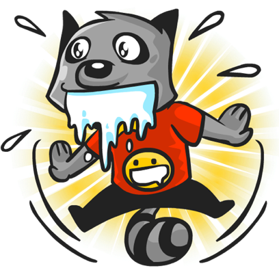 Rubi the Raccoon messages sticker-10