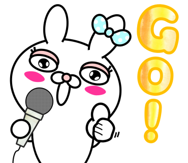 Blusher rabbit (free) messages sticker-3