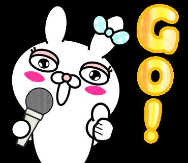 Blusher rabbit (free) messages sticker-3