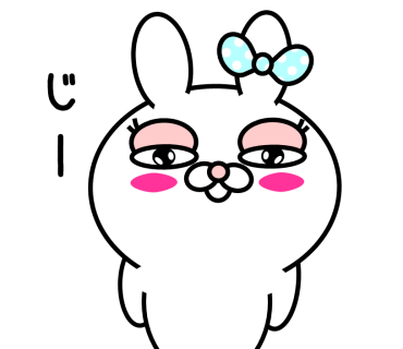 Blusher rabbit (free) messages sticker-4