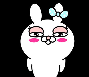 Blusher rabbit (free) messages sticker-4