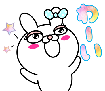 Blusher rabbit (free) messages sticker-6