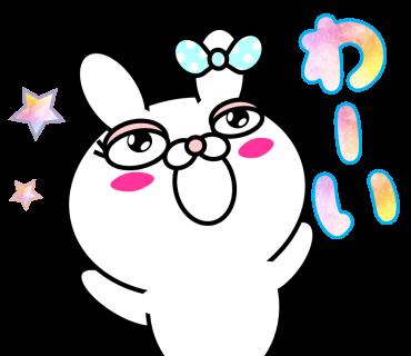 Blusher rabbit (free) messages sticker-6