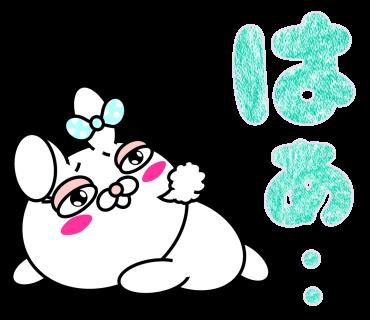 Blusher rabbit (free) messages sticker-7