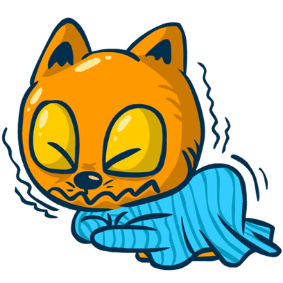 Idiotic Cat messages sticker-9