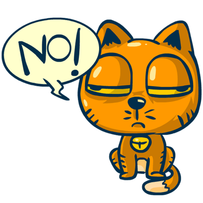 Idiotic Cat messages sticker-3