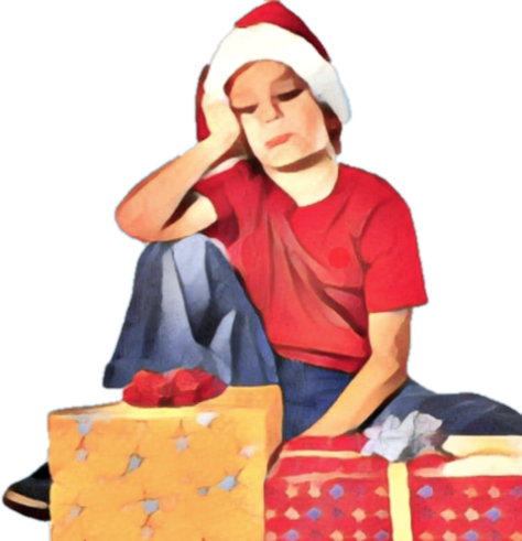 Sad Christmas and New Year Stickers for iMessage! messages sticker-7