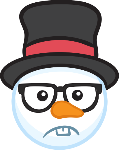 Snowman Face Stickers - Christmas Snowman messages sticker-8