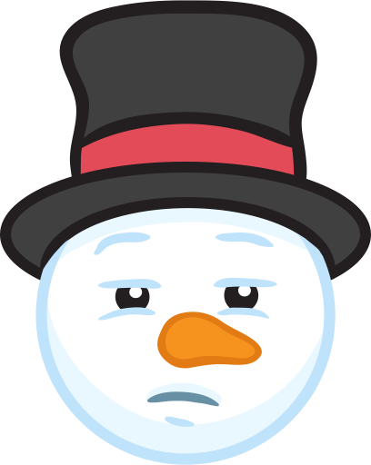 Snowman Face Stickers - Christmas Snowman messages sticker-5