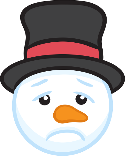 Snowman Face Stickers - Christmas Snowman messages sticker-9