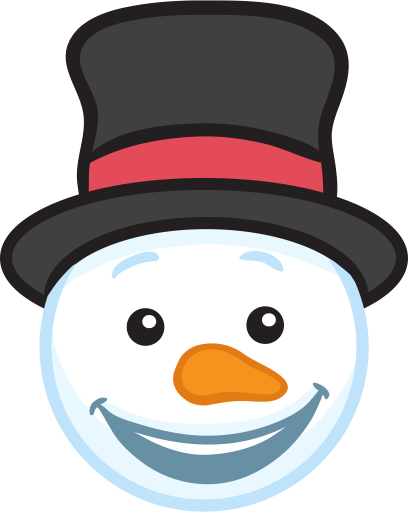 Snowman Face Stickers - Christmas Snowman messages sticker-2