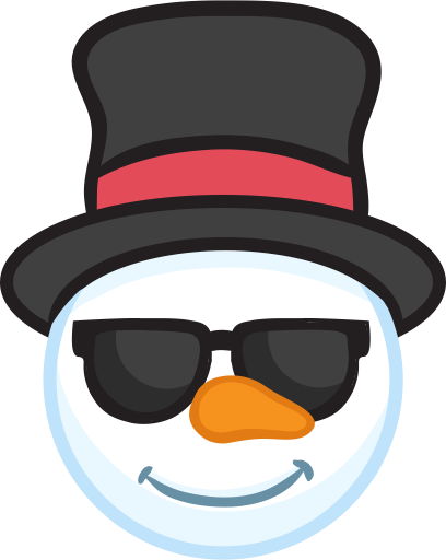Snowman Face Stickers - Christmas Snowman messages sticker-10
