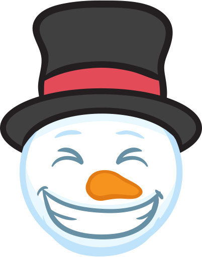 Snowman Face Stickers - Christmas Snowman messages sticker-1