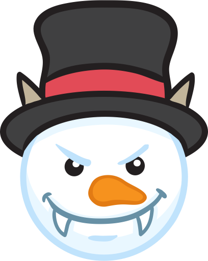 Snowman Face Stickers - Christmas Snowman messages sticker-6