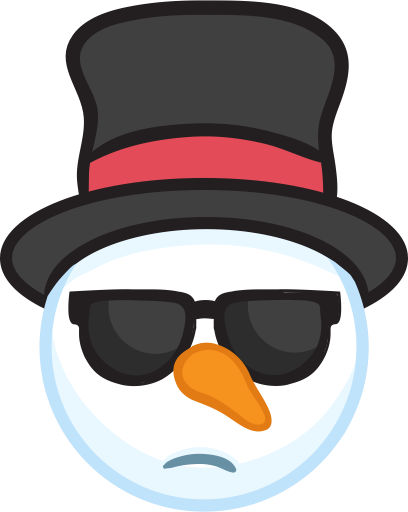 Snowman Face Stickers - Christmas Snowman messages sticker-11