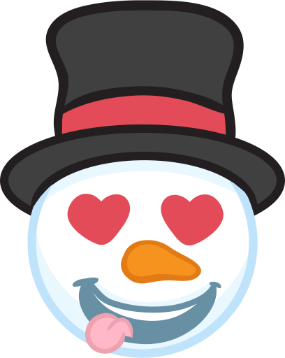Snowman Face Stickers - Christmas Snowman messages sticker-3