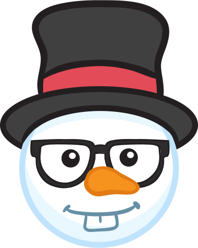 Snowman Face Stickers - Christmas Snowman messages sticker-0