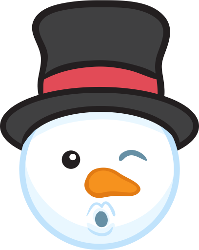 Snowman Face Stickers - Christmas Snowman messages sticker-4