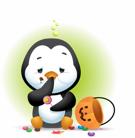 Waddles Halloween Stickers messages sticker-10