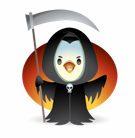 Waddles Halloween Stickers messages sticker-1