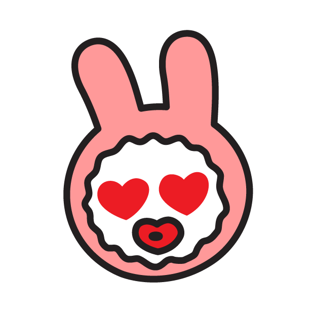 Face of PinkRabbit messages sticker-10