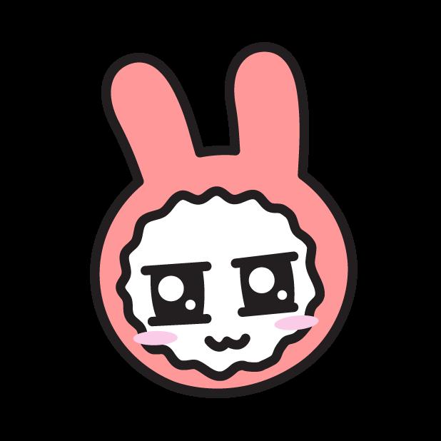 Face of PinkRabbit messages sticker-7
