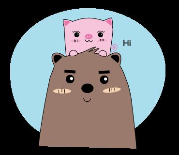 Pigkabear messages sticker-0