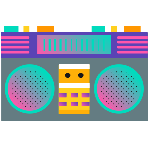 80s Emoji Retro Flashback Stickers for iMessage messages sticker-2