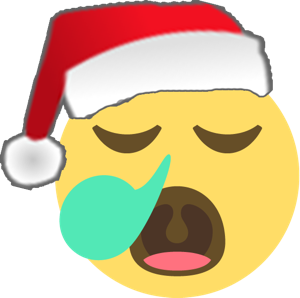 Santa Emoji messages sticker-9