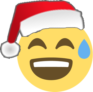 Santa Emoji messages sticker-6