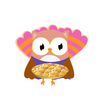 Christmas Owl Stickers - Xmas Turkey Sticker messages sticker-1