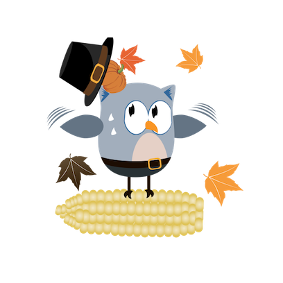 Christmas Owl Stickers - Xmas Turkey Sticker messages sticker-0
