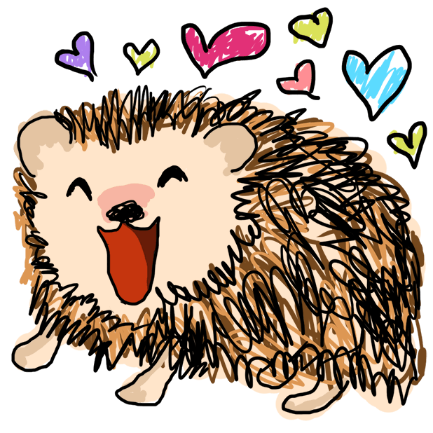 Harold the Hedgehog Stickers messages sticker-3