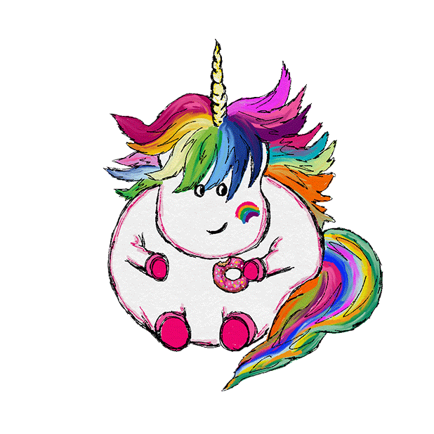 Hand Drawn Unicorns Sticker Pack messages sticker-2